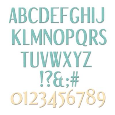 Thinlits Die Set, Stylized Alphabet