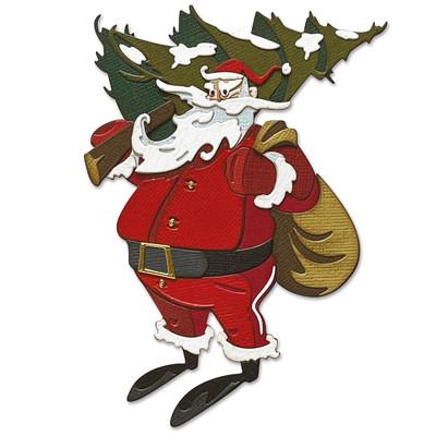Thinlits Die Set, Colorize - Woodland Santa (18pk)