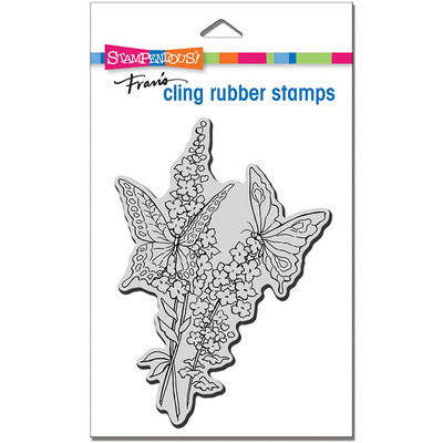 Cling Stamp, Lacy Butterflies