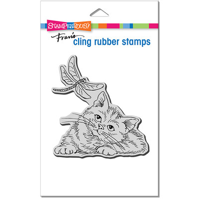 Cling Stamp, Dragonfly Kitten