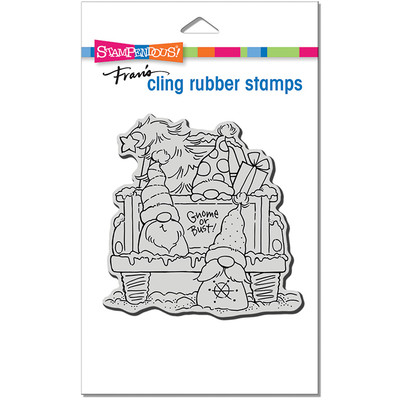 Cling Stamp, Truck Gnomes