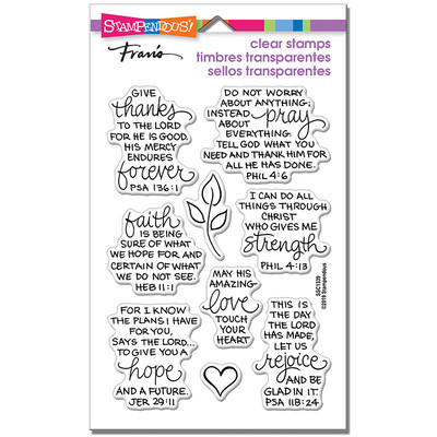 Clear Stamp, Bible Verses