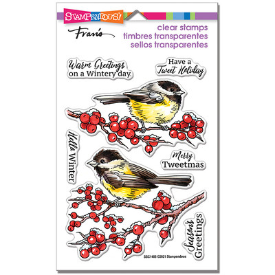 Clear Stamp, Chickadee Holiday