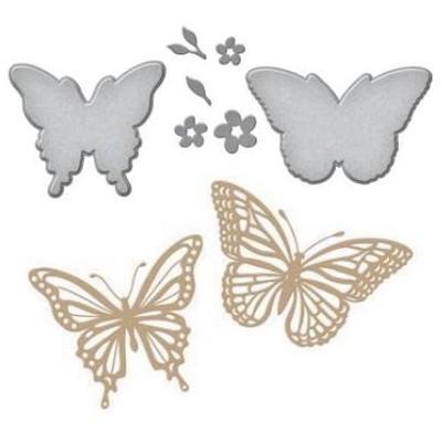 Glimmer Hot Foil Plates & Dies, Glimmering Butterflies