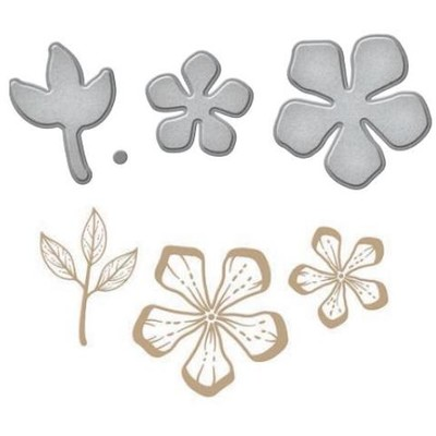 Glimmer Hot Foil Plates & Dies, Glim. Layered Flowers