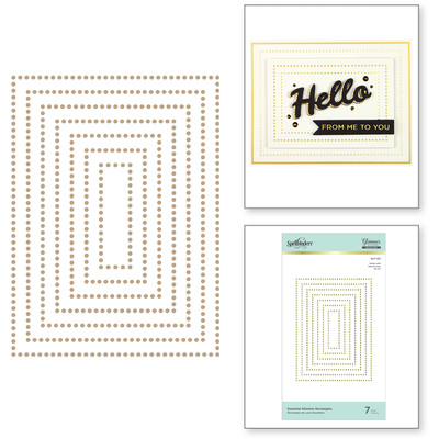 Glimmer Hot Foil Plate, Essential Rectangles