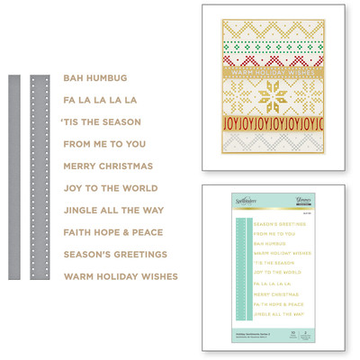 Glimmer Hot Foil Plate & Dies, SC - Holiday Sentiments 2