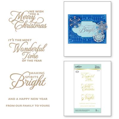 Glimmer Hot Foil Plate, CC - Elegant Holiday Glimmer Sentiments