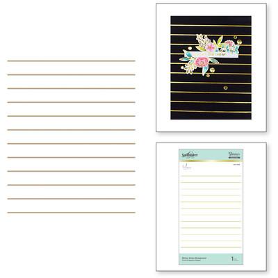 Glimmer Hot Foil Plate, YBB - Skinny Stripe Background