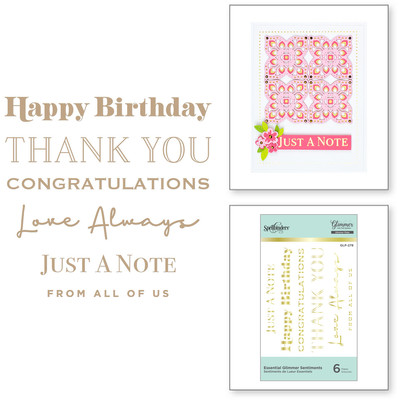 Glimmer Hot Foil Plate, Essential Glimmer Sentiments