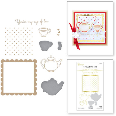 Glimmer Hot Foil Plate & Die Set, SC II - Cup of Kindness