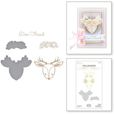 Glimmer Hot Foil Plate & Die Set, SC II - Deer Friend