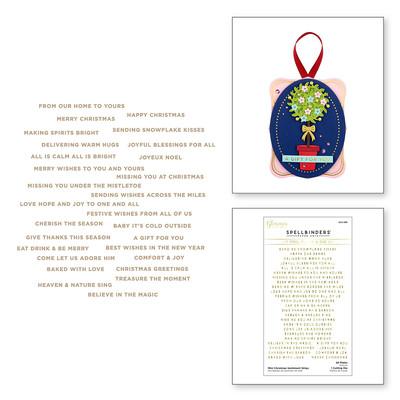 Glimmer Hot Foil Plate & Die, TTS - Mini Christmas Sent. Strips