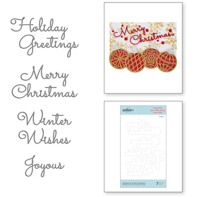 Die, Sparkling Christmas - Christmas Mix & Match Sentiments