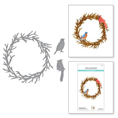 Die, SHF - Woodland Wreath & Feathered Friends