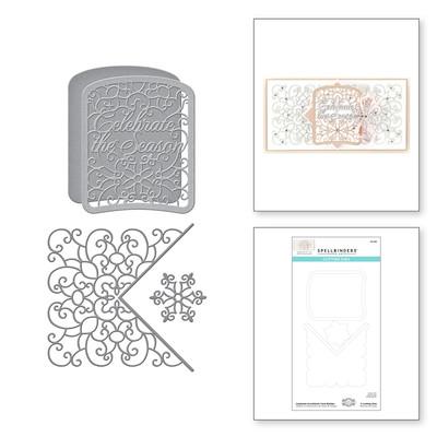 Die, Holiday Medley - Celebrate Scrollwork Card Builder