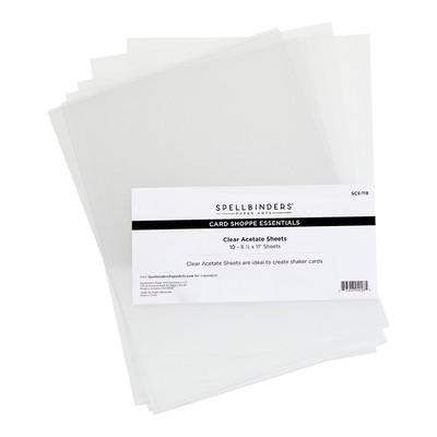 Card Shoppe Essentials Clear Accetate Sheets