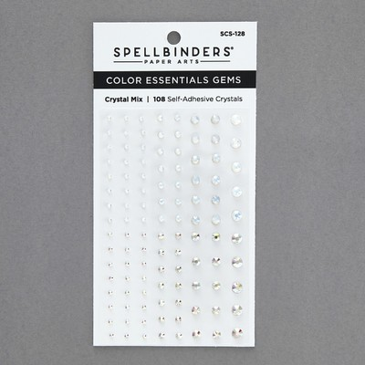 Color Essentials Self Adhesive Gems, Crystal Mix