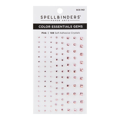 Color Essentials Self Adhesive Gems, Pink Mix