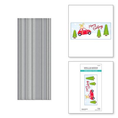 Embossing Folder, Slimline - Striped