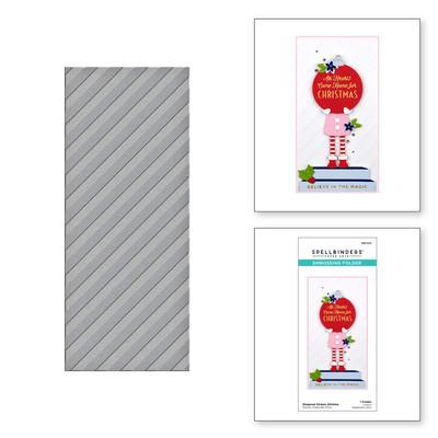 Embossing Folder, Slimline - Diagonal Stripes