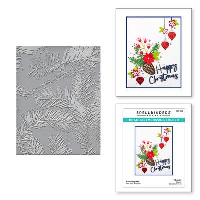 Embossing Folder, Tis the Season - Forevergreen