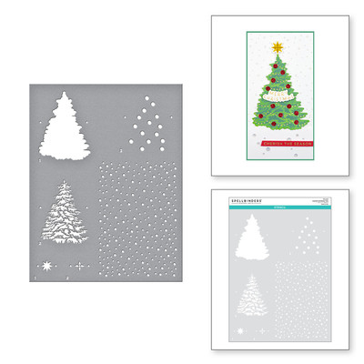 Stencil, Trim a Tree - Layered Christmas Tree