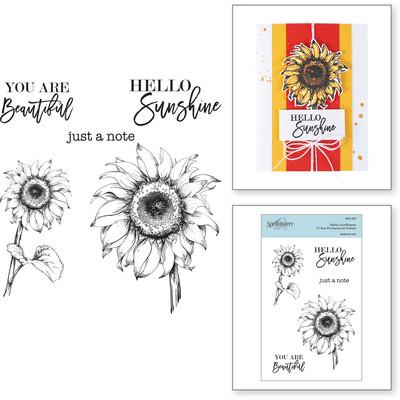 Clear Stamp, Hello Sunflower