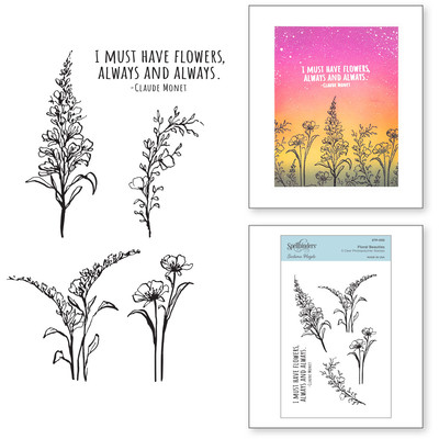 Clear Stamp, Watercolor Florals - Floral Beauties