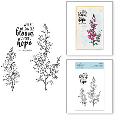 Clear Stamp, Watercolor Florals - Fragrant Flowers