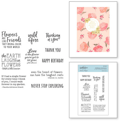 Clear Stamp, Watercolor Florals - Wildflower Sentiments