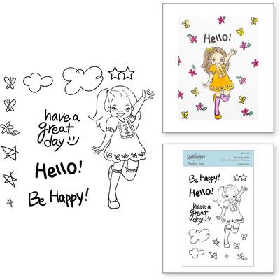 Clear Stamp, Delightful Darlings - Darling Hello