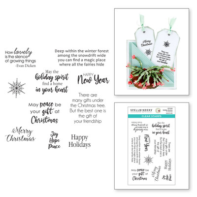 Clear Stamp, Susan's Holiday Flora - Holiday Quotes