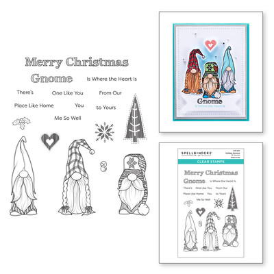Clear Stamp, Be Merry - Holiday Gnomes