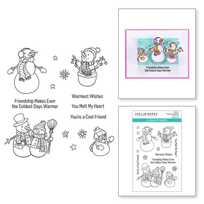 Clear Stamp, Be Merry - Friendly Snowmen