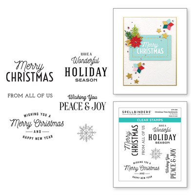 Clear Stamp, Christmas Traditions - Christmas Time Sentiments