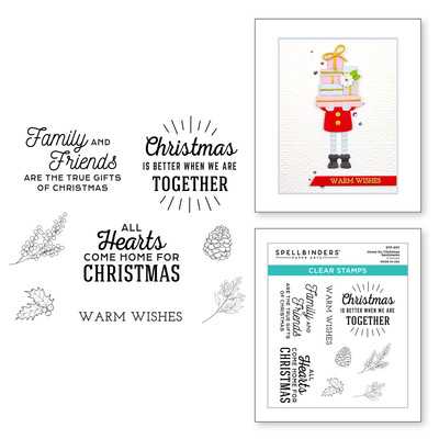 Clear Stamp, Be Merry - Home for Christmas Sentiments