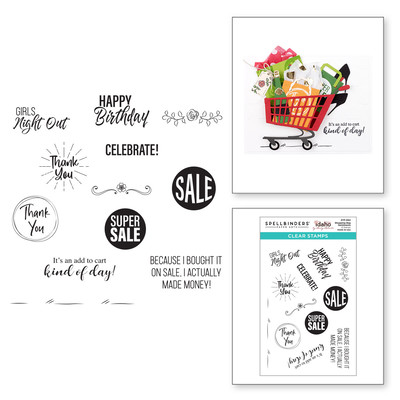 Clear Stamp, Add to Cart - Shopping Bag Sentiments