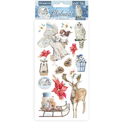 Chipboard, Winter Tales - 02 (Christmas Elements)