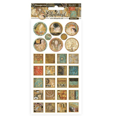 Chipboard, Klimt - Squares and Rounds