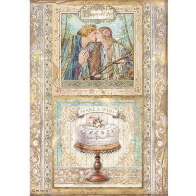 A4 Rice Paper, Sleeping Beauty - Cake Frame