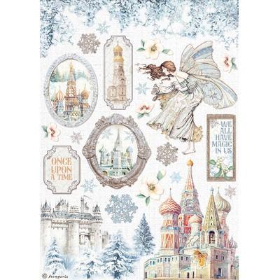 A4 Rice Paper, Winter Tales - Castle
