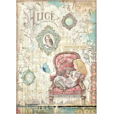 A4 Rice Paper, Alice Through the Looking Glass - House