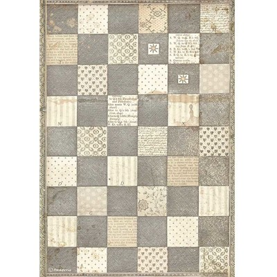 A4 Rice Paper, Alice Through the Looking Glass - Chessboard