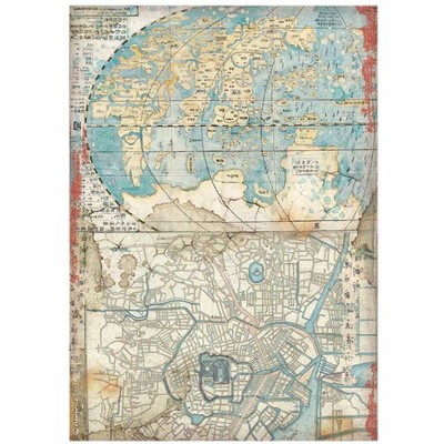 A4 Rice Paper, Sir Vagabond in Japan - Map