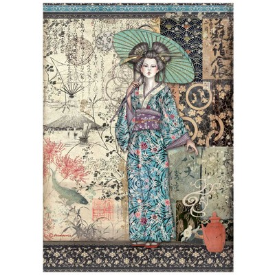 A4 Rice Paper, Sir Vagabond in Japan - Lady