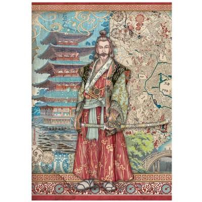 A4 Rice Paper, Sir Vagabond in Japan - Samurai