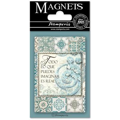 Magnet, 8X5.5cm - Azulejos Writings