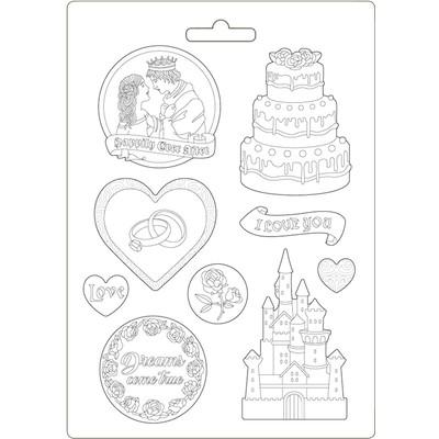 A4 Soft Mould, Sleeping Beauty - Castle & Cake