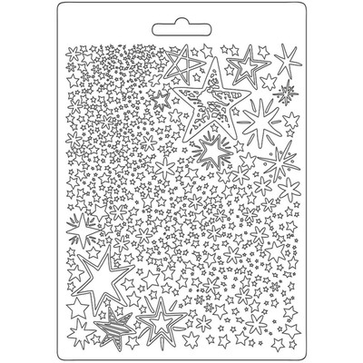 A5 Soft Mould, Christmas Patchwork - Stars